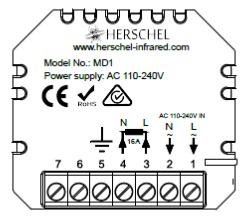 MD1 wiring label
